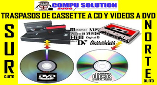 Traspaso De Cassette A Cd Y Videos Cassette A Dvd