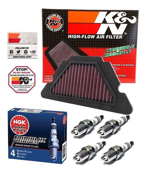 Filtro Ar Esportivo K&n Inbox Yamaha Xj6 + Vela Ngk Iridium