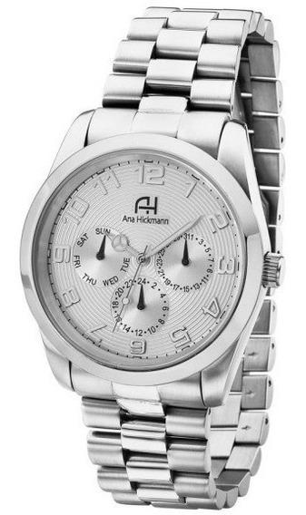 Relógio Feminino Ana Hickmann Aço Prata Original Ah30139q