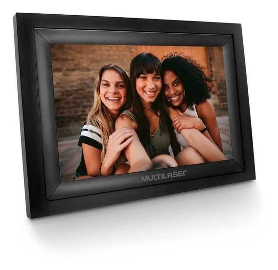 Porta Retrato Digital Com Wi-fi Lcd 7 Pol. Touch Entradas...