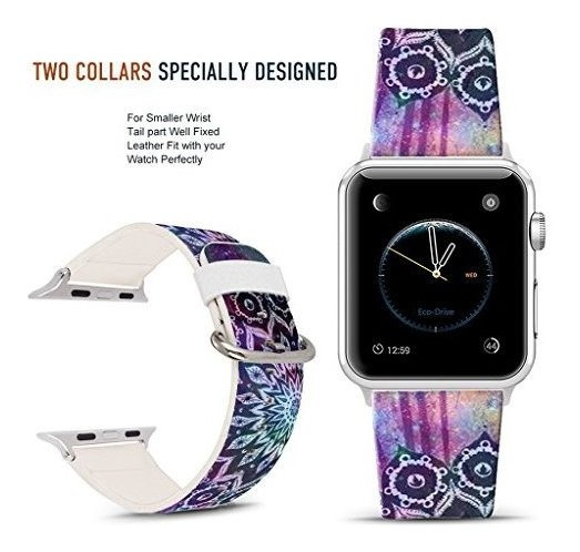 Para Apple Watch Band 42mm Starry Sky Mandala Correa De Relo
