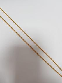 Cordão Baiano Feminino Em Ouro 18k 3 Gr - 34