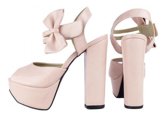 Sapato Plataforma Salto Alto Grosso Sandália Casamento 13cms