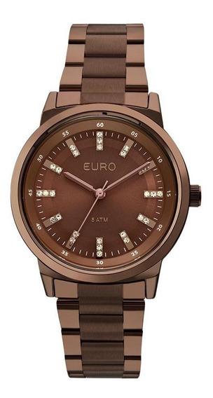 Relógio Euro Feminino Metal Colors Eu2036ylj/4m - Marrom