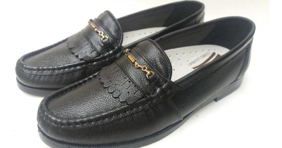 Sapato Social Tradicional Em Couro Ref 100