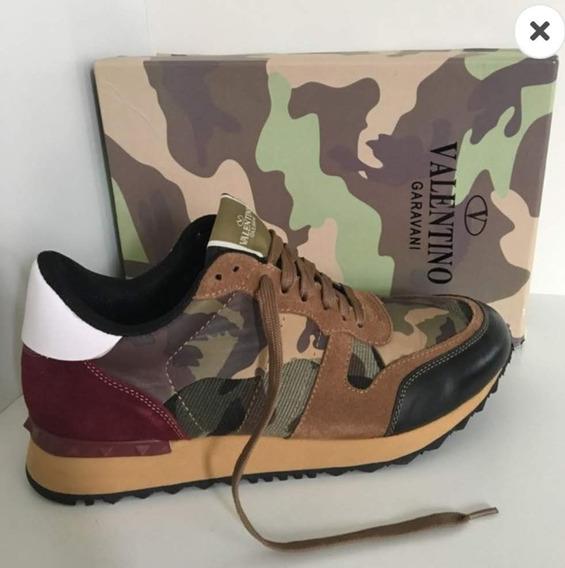 Sneaker Valentino Camouflage Rockrunner - Pronta Entrega 40
