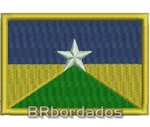 Bbr313 Bandeira Rondônia 8x5,5 Cm Kart Moto F1 Patch Bordado