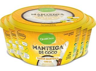 Kit 5 Manteiga De Coco Natural Com Sal Qualicoco 200g