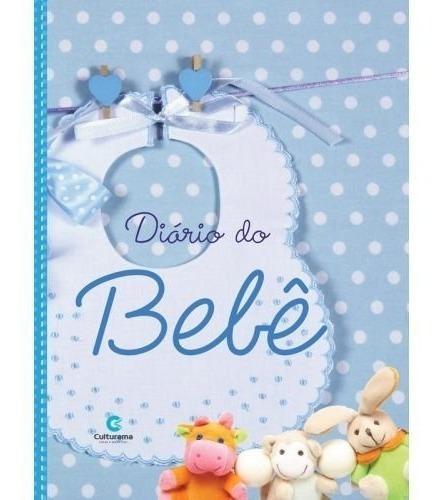 Livro Diário Presente Bebê Menino Gestação Recordações
