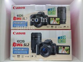Canon Sl2 Kit Premium Com 18-55m+lente 55-250 Pronto Entrega