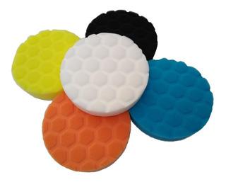 Kit De Esponjas Pulir Y Encerar P/pulidora 5 Pulgadas Velcro