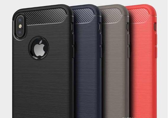 Funda Protector iPhone Samsung Carbono