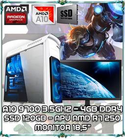 Cpu Pc Gamer A10 9700 Quad Core 3.1ghz 4gb Ddr4 Tela 18 B110