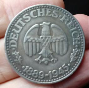 Moeda Nazista Adolf Hitler 1889-1945 3º Reich