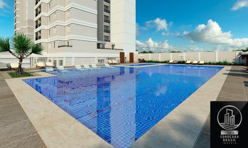 Oportunidade Apartamento Com 3 Dormitórios À Venda, 95 M² Por R$ 465.500 - Condominio Residencial Montpellier - Sorocaba/sp, Valor Promocional. - Ap00205 - 67650711