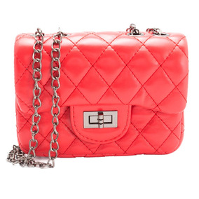 Bolsa Infantil Chanel Classic - Vermelho Ludique Et Badin