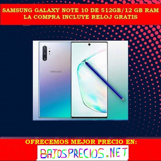 Samsung Galaxy Note 10+ De 512gb En Cja Sellada Original