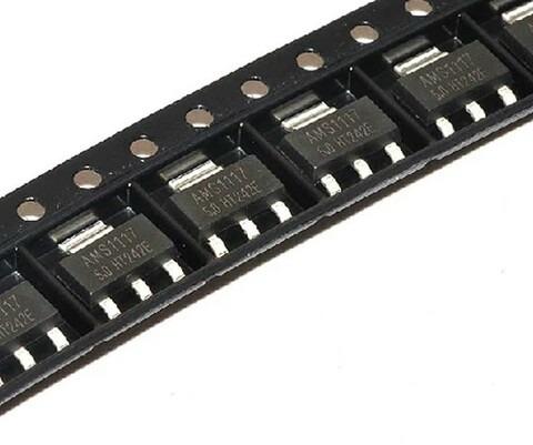 Regulador De Tensão Ams1117-3.3 Sot-223 3.3 V 1a 100 Peças