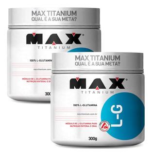 Glutamina Max Titanium Glutamine 300g - Importada - Promoção