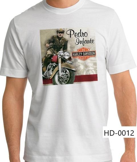 Playera Harley Davidson Pedro Infante Moto A Toda Máquina