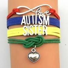 Pulseira Couro Amor Infinito Autismo Irmã