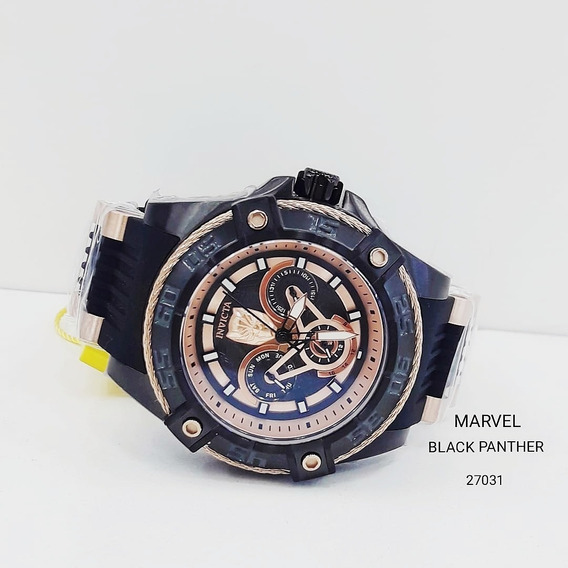 Relógio Invicta 27031 Ouro Rose Homem Pantera Aço ## Marvel