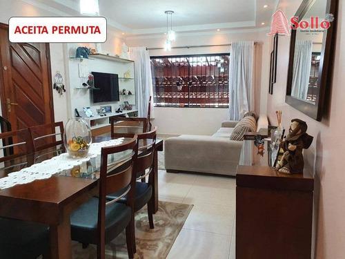 Sobrado Com 3 Dormitórios À Venda, 155 M² Por R$ 590.000,00 - Macedo - Guarulhos/sp - So0168