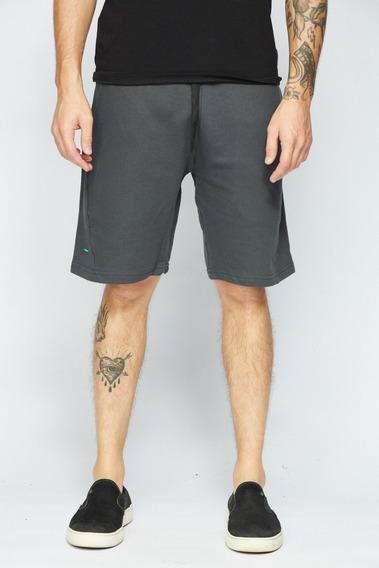 Bermuda Sense Casual Wear Short De Moletom Masculino Chumbo