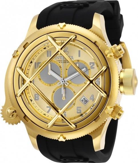 Precioso Reloj Invicta Russian Diver Nautilus 27728 Swiss Mov Dorado Tiempo Exacto Relojes