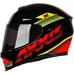 Capacete Mt/axxis Eagle Logo Preto/vermelho/amarelo