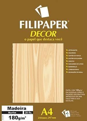Papel Decor A4 - Estampado Madeira Marfim Filipaper