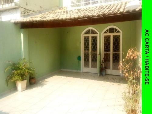 Casa Com 4 Quartos Tríplex, 1 Suíte- Garagem, 205m²  -  Praça Seca - Aec4033