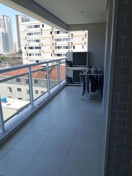 Apartamento Em Marapé, Santos/sp De 98m² 3 Quartos Para Locação R$ 3.800,00/mes - Ap101505