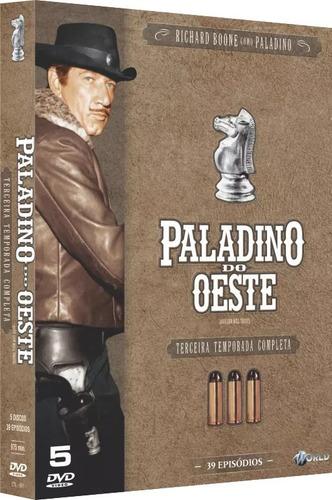 Imagem 1 de 2 de Box Dvd: Paladino Do Oeste 3ª Temporada - Original Lacrado