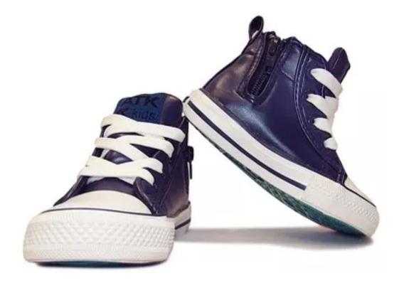 Zapatillas Atomik Importada Azul Botitas 24/30 Nueva Edición
