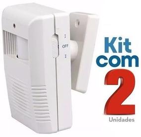 Sensor De Presença Sonoro Sem Fio Ds / Kit Com 02 Unidades