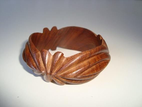 Pulseira Bracelete Madeira Natural Artesanal Indiana 5
