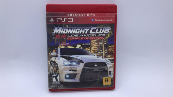 Midnight Club Los Angeles Complete Edition Ps3 Midia Fisica
