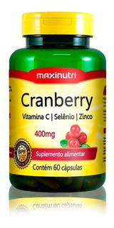 Cranberry 400mg + Vitamina C & Zinco Cápsulas Maxinutri