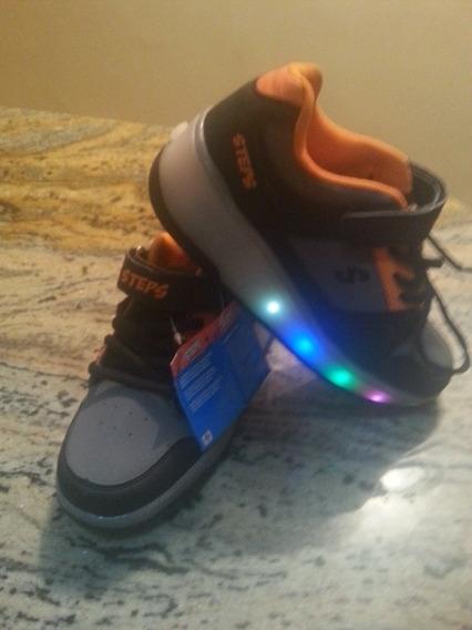 Zapatos Para Niño Con Rueditas Y Luces Deportivos