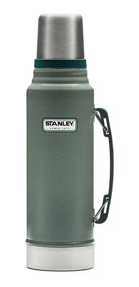 Termo Clásico Verde Tapón Cebador 1 Litro Stanley 1254.045