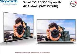 Smart Tv Led 55 Skyworth 4k Android (sw55s6sug) Netflix