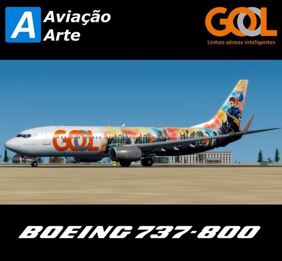 Aeronave Fsx - Boeing 737-800 Gol Pr-guo #rock In Rio