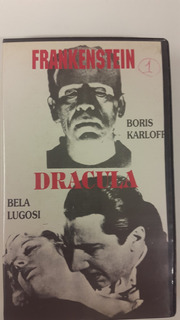 Frankenstein Karloff Dracula Lugosi Vhs 2 Peliculas