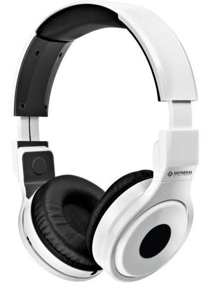 Fone De Ouvido Mondial Headphone Branco Frete Grátis Academi