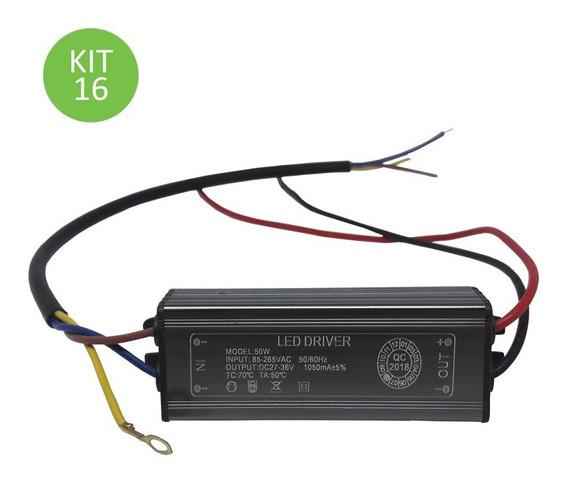 Driver Reator Para Reposição Refletor Led 50w Bivolt Kit 16