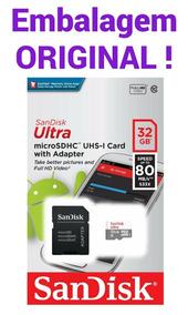Cartão Memória Sandisk Ultra Micro Sd 32gb 80mb/s Classe 10
