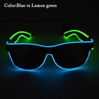 Óculos Escuro Led Neon 2 Cores - Rave Balada Festa Casamento