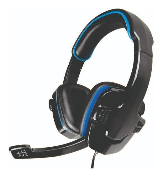 Headset Gamer K-mex Ar-s501 Stereo C/ Microfone. Preto/azul