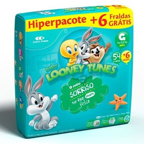 Looney Tunes G Hiper 04 Pacotes - 240 Fraldas!